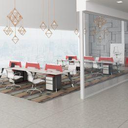 תחנות עבודה במשרד מודולריות