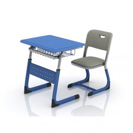 Single School Desk And Chair