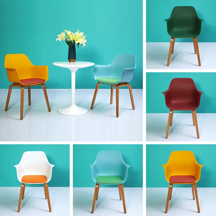 Leisure Wooden Plastics Chairs