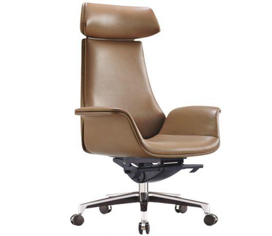 Traditionele lederen stoel Office Vintage