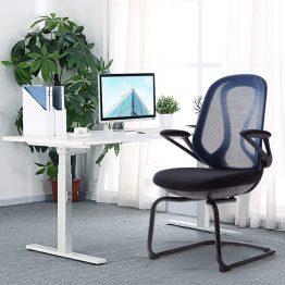 Chaise de bureau en maille noire