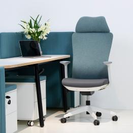 Chaise de bureau confortable en tissu