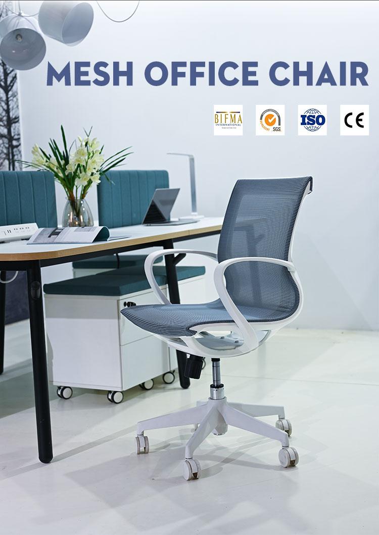 Cadeira de escritório giratória em malha
