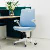 Cadeira de escritório no meio das costas