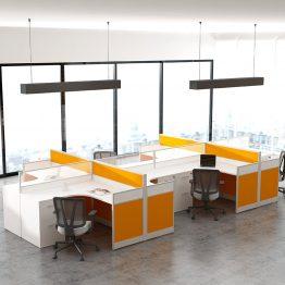 Mesa de escritório modular moderna