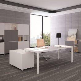 Mesa de móveis de escritório moderna Mesa de escritório executiva em forma de L