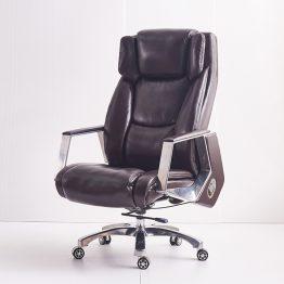 Cadeira de escritório chefe de couro pu