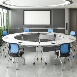 Mesa de treinamento móvel dobrável