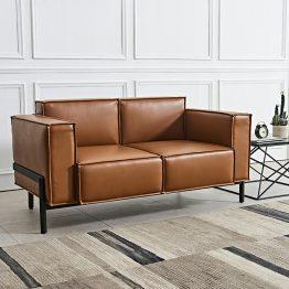 Sofá de couro moderno para escritório