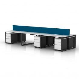 estação de trabalho de mesa de escritório